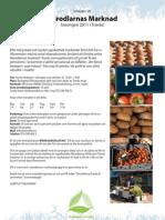 Inbjudan närodlarnas marknad 2011 (Omställning Tranås)