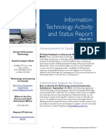 March 2011 IT Status Report