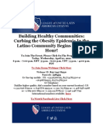 LULAC - Building Healthy Communities Curbing the Obesity Epidemic in the Latino Community Link to Participate