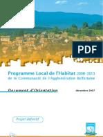 Séance 4 - Programme local de l'habitat - Document Orientation