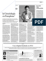 Entrevista Diario de Navarra a Iván Arjona sobre Cienciologia