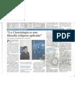 Entrevista Diario A21 a Iván Arjona sobre Cienciologia