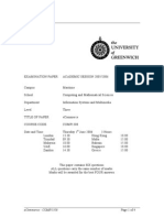 eCommerce Exam June 2006 - UK University BSc Final Year