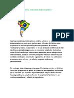 Act. 6 Cs. Ss. Problemas Ambientales América Latina
