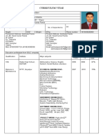 Curriculum vitae sample from NTTF