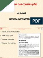 PAT - Aula 04 - Fissuras Geométricas