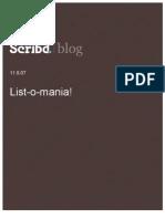 List-o-mania! Scribd Blog, 11.9.07