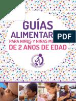 Guías Alimentarias para niños y niñas menores a 2 años de edad