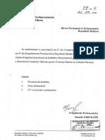 Hotărâre de numire în funcție Cornel Lebedinschi