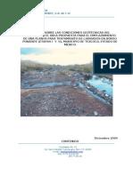 Condiciones geotécnicas del relleno sanitario Bordo Poniente, Etapa III, México.