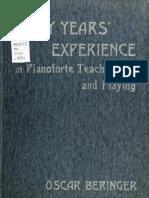 50 years of teaching piano