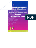 dictionary of health related items bi-lingual spanish and english medical and dental
