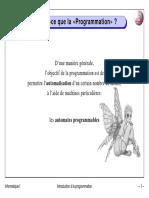 introduction a la programmation