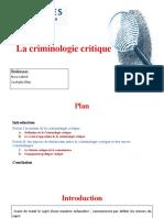 La Criminologie Critique