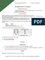 Interrogation écrite N°1 G3 - 1314