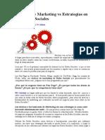 Tácticas De Marketing vs Estrategias en Las Redes Sociales