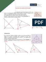 Elementos Secundarios del triangulo