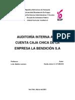 Auditoria de Caja Chica (Caso Práctico)