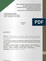 ATIVIDADE - TEC. DE CARACTERIZÇÃO DE MATERIAIS