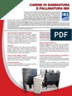 Scheda Cabine Sabbiatura e Pallinatura IBS