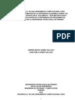 Documento de Proyecto de Grado SOFTWARE DE PERTINENCIA ACADÉMICA