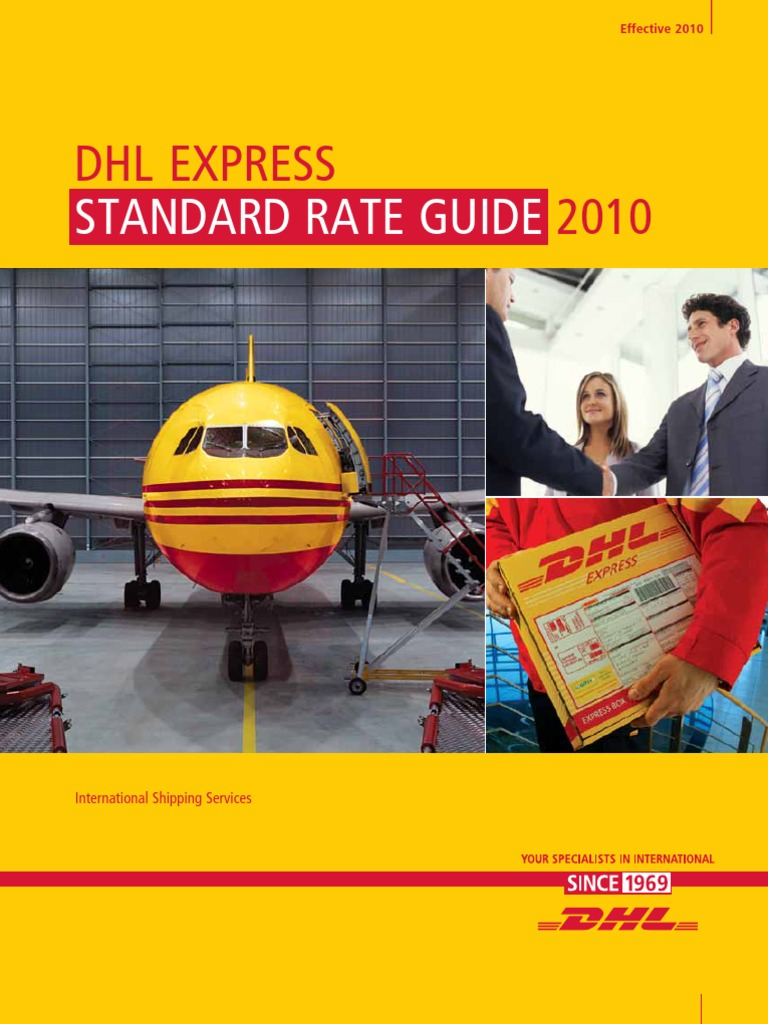 Dhl air express airway bill instructions - Dhl Standard_rate_guide Commercial Item Transport And Distribution Services Economics