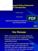 ADB General - 2 Safeguard Policy Statement - Xiaoying Ma