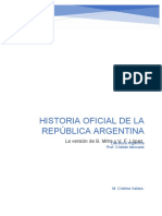 Historia oficial de la República Argentina. Versión de Mitre y López