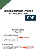 Les médicaments en pneumologie