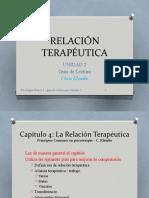 RELACIÓN TERAPÉUTICA Guía de lectura - unidad 2