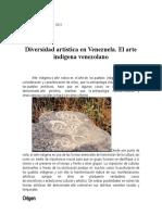 CLASE (DIVERSIDAD ARTISTICA EN VENEZUELA) ARTE INDIGENA