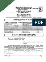 BG N 032 - De 16 FEVEREIRO 2021