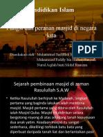 fungsi dan peranan masjid masa kini