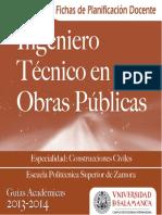 Ingenier Tecnico en Obras Publicas Esp Construcciones Civiles 2013 PF