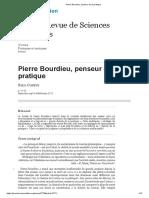 Pierre Bourdieu, penseur de la pratique