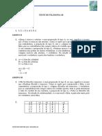 4. Filosofia 10 - Teste 2 - Soluções