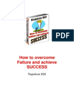 napoleon hill - how to overcome failure