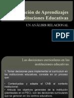 La generación de aprendizajes en las instituciones educativas