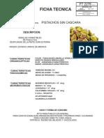 PISTACHOS SIN CASCARA -FICHA TECNICA  FT2276