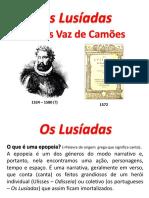 Os Lusíadas - definição de epopeia, fontes da obra, estrutura externa e  interna