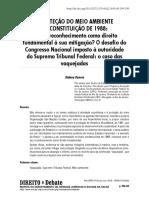 A proteção do meio ambiente na Constituição de 1988 - Sidney Guerra