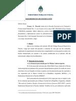Dictamen amplía requerimiento de instrucción CFP 3561-2019