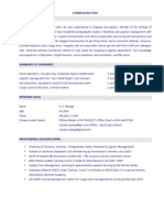 CV of Ravindu Rodrigo
