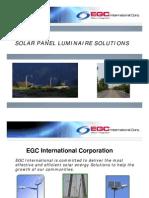 Solar Panel Luminaire Solutions