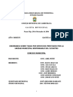 32. ORDENANZA SOBRE TASAS POR SERVICIOS PRESTADOS POR LA UNIDAD MUNICIPAL RESPONSABLE DEL CATASTRO