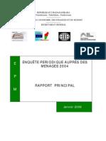 Enquête périodique auprès des ménages 2004 - Rapport (INSTAT/2006)