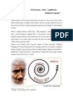 CAse StudyETHICS-ENVIRONMENT-EQUILIBRIUM-Siddharth  Tripathy