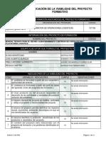 Reporte Viabilidad Proyecto de Aprendizaje - 2001907 - MANUAL TECNICO PARA EL RECIBO,