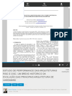 Estudo de Performance Das Arquiteturas Risc e Cisc