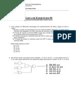 Lista Exercícios Arquitetura Computacional #4